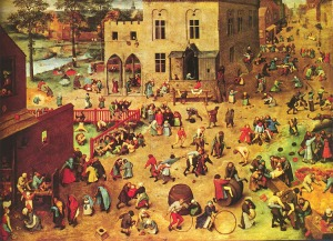 Children's Games, oil-on-panel, Pieter Bruegel the Elder (1559)